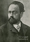 Famous Person Portrait Framed Prints - Emile Zola, French Author Framed Print by Photo Researchers