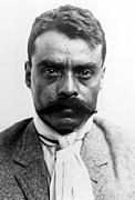 Revolutionaries Framed Prints - Emiliano Zapata In 1914 Framed Print by Everett