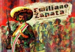 Mexico Digital Art Framed Prints - Emiliano Zapata Inmortal Framed Print by Dean Gleisberg