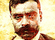 Mexican Revolution Framed Prints - Emiliano Zapata Framed Print by Juan Jose Espinoza