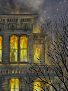 Haunted House Digital Art Metal Prints - Emily Metal Print by Jamison Smith