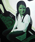 Beer Oil Paintings - Emily by Michael Ringwalt