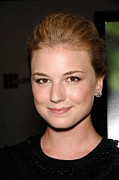Stud Earrings Posters - Emily Vancamp At Arrivals For Coco Poster by Everett