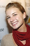 Film Camera Prints - Emily Vancamp At Arrivals For Nhl Print by Everett