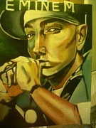 Eminem Painting Originals - Eminem by Noreen Roseleen  Maughan
