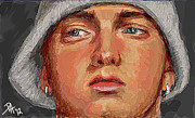 Eminem Digital Art - Eminem by Peggy Hickey