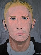 Rap Star Painting Originals - Eminem Rap Singer by Jeannie Atwater Jordan Allen