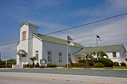Topsail Island Framed Prints - Emma Anderson Memorial Chapel Framed Print by Betsy A Cutler East Coast Barrier Islands