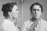 Socialists Framed Prints - Emma Goldman 1869-1940 Mugshots. She Framed Print by Everett
