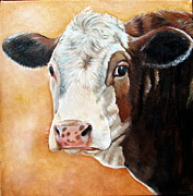Calf Paintings - Emma by Laura Carey
