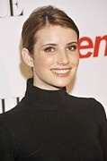 Pink Lipstick Framed Prints - Emma Roberts At Arrivals For 6th Annual Framed Print by Everett
