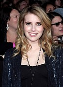 The Twilight Saga New Moon Premiere Posters - Emma Roberts At Arrivals For The Poster by Everett