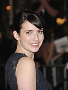 Bangs Framed Prints - Emma Roberts At Arrivals For The Los Framed Print by Everett