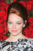 Updo Metal Prints - Emma Stone At Arrivals For Momas 4th Metal Print by Everett