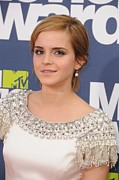 Diamond Earrings Framed Prints - Emma Watson At Arrivals For The 20th Framed Print by Everett
