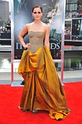 Ball Gown Metal Prints - Emma Watson Wearing A Bottega Veneta Metal Print by Everett