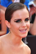 Drop Earrings Metal Prints - Emma Watson Wearing Lorraine Schwartz Metal Print by Everett