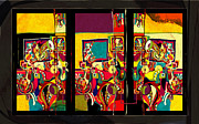 Jazz Monsters Framed Prints - EmmaNoammE Framed Print by Vladimir Stanisevic