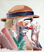 Kelly Painting Originals - Emmett Kelly by Donna Baruchi