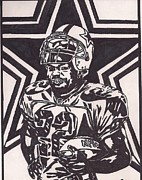 Dallas Drawings Framed Prints - Emmitt Smith Framed Print by Jeremiah Colley