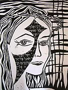 Bible Reliefs Originals - Emnity Self Portrait by Amanda Kabat