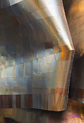 Metal Sheet Prints - EMP Abstract Fold Print by Chris Dutton