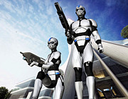Cop Digital Art - EMP Troopers by Steve Thorpe