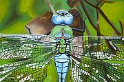 Insect Paintings - Emperor Dragonfly by Bryan Ory