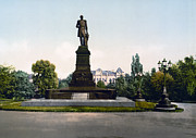 Kiev Framed Prints - Emperor Nicholas I Monument in Kiev - Ukraine - ca 1900 Framed Print by International  Images