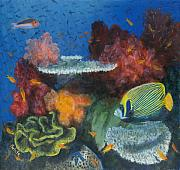 Angelfish Paintings - Emperors palace by Jennifer Belote