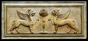 Greek Sculpture Reliefs - Empire Griffins Wall Plaque by Goran