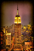 New York Digital Art Metal Prints - Empire Light Metal Print by Chris Lord