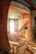 Abandoned Buildings Photo Prints - Empire of Hurt Print by Wayne Stadler