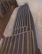 New York Mixed Media Originals - Empire State Building 1 by Anita Burgermeister
