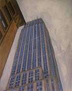 New York Mixed Media Originals - Empire State Building 2 by Anita Burgermeister