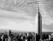 True Melting Pot Digital Art Posters - Empire State Building BW16 Poster by Scott Kelley