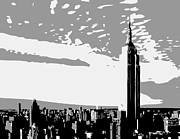 Financial Digital Art - Empire State Building BW3 by Scott Kelley