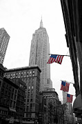 Empire Photo Framed Prints - Empire State Building in the mist Framed Print by John Farnan