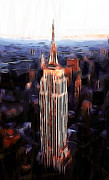 Nyc Skyline Paintings - Empire State Building by Stefan Kuhn