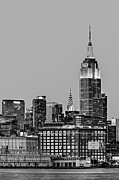 Empire State Framed Prints - Empire State BW Framed Print by Susan Candelario