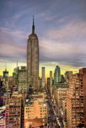 Skyscraper Framed Prints - Empire State of Mind Framed Print by Evelina Kremsdorf