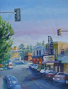 Pacific City Paintings - Empire Theatre by Vanessa Hadady BFA MA