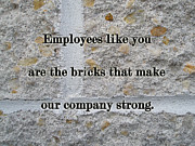 Mother Nature Photos - Employee Service Anniversary Thank You Card - Cement Wall by Mother Nature