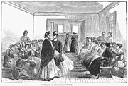 Housekeeper Framed Prints - Employment Bureau, 1867 Framed Print by Granger