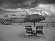 Beach Chairs Photo Framed Prints - Emptiness Framed Print by Jeff Breiman