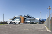Airport Architecture Prints - Empty Airport Parking Lot Print by Jaak Nilson