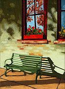 Realistic Photo Prints - Empty Bench Print by Linda Apple