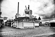 Seaside Heights Prints - Empty Boardwalk Print by John Rizzuto