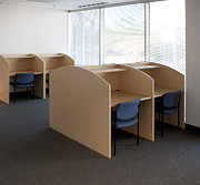 Cubicle Art - Empty Carrels by Will & Deni McIntyre