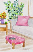 Foot Stool Prints - Empty Chair Series 3 Print by Melody Allen
